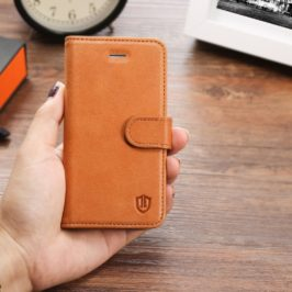 iPhone 5 Leather Case, iPhone 5S Case, iPhone SE Case - Brown