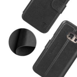 SAMSUNG Galaxy S7 Case, SAMSUNG S7 Leather Case - Black