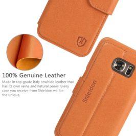 SAMSUNG Galaxy S7 Leather Case, SAMSUNG S7 Case - Brown