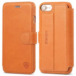 SHIELDON Leather Case for iPhone 7