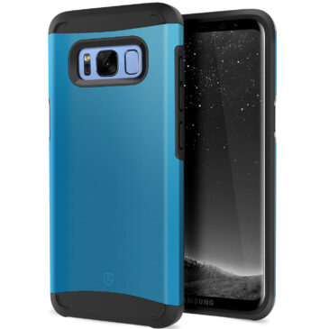 SHIELDON Galaxy S8 Case, Galaxy S8 Cover Thin Fit Shock Absorption Dual Layer Design with Soft TPU and Reinforced Tough PC Frame [Sunrise Series] Compatible with Galaxy S8 (5.8 inches),Niagara Blue