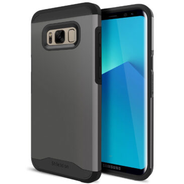 SHIELDON Galaxy S8 Case, Galaxy S8 Case Cover Thin Fit Shock Absorption Dual Layer Design with Soft TPU and Reinforced Tough PC Frame[Mountain Series] Compatible with Galaxy S8 (5.8 inches),Gunmetal